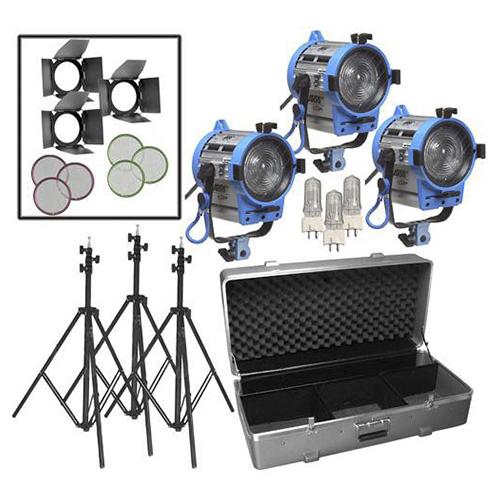 Arri650W Fresnel Compact 3-Light Kit